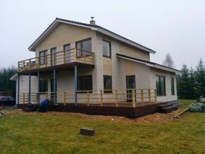 Terrass piirdega ja rõdu ehitus Keila