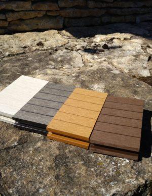 Terrassilaud komposiit hall pruun tumepruun valge