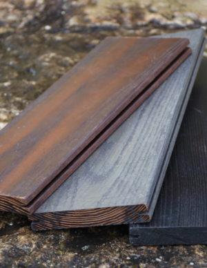 Terrassilauad kuumõlitatud termosaar pruun hall must