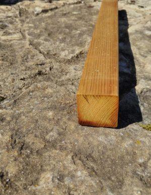 Terrassi materjal 45×45 hööveldatud immutatud pruun