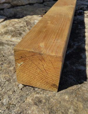 Terrassi materjal 95×95 hööveldatud immutatud pruun