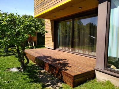 Terrass.ee terrassi ehitus terrassilaud 117×26 kuumõlitatud termomänd Pruun Hüüru 21.1