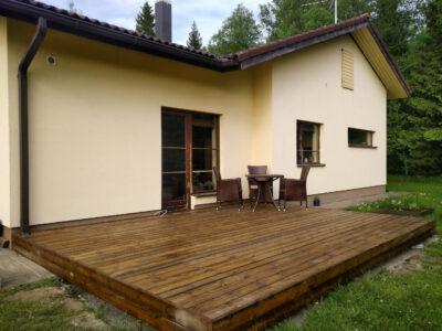 Terrass.ee terrassi ehitus terrassilaud 120×28 kuumõlitatud pruun Kiili 21.1